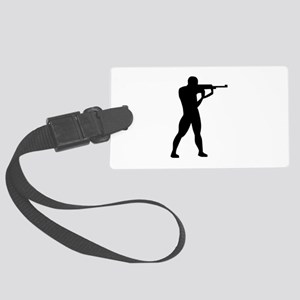 Sports shooting Large Luggage Tag