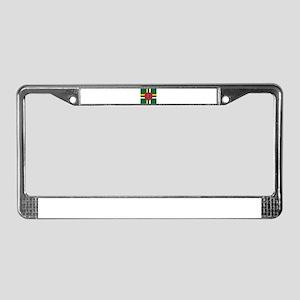 Flag of Dominica License Plate Frame