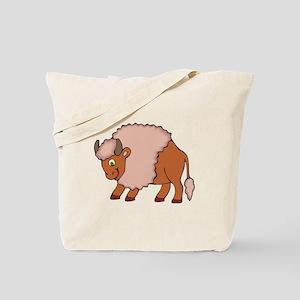 Cute Smiling Buffalo/Bison Tote Bag