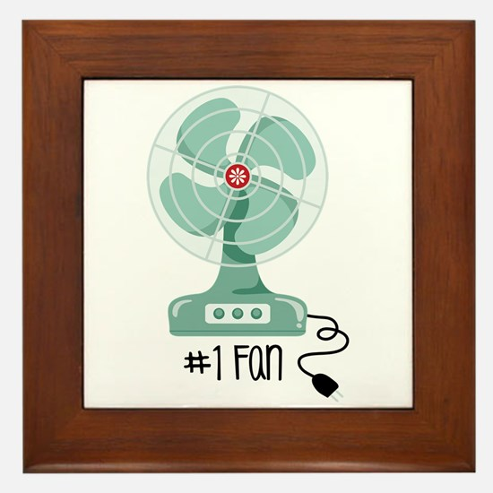 Number One Fan Framed Tile
