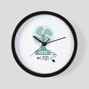 Number One Fan Wall Clock