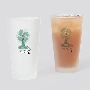 Number One Fan Drinking Glass