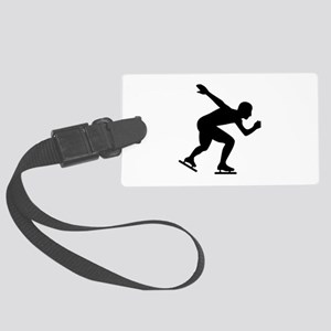 Speed skating skater Large Luggage Tag
