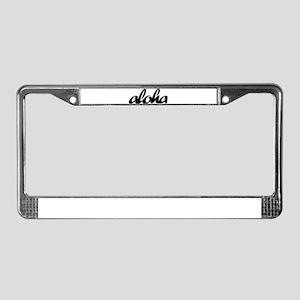 Surf Aloha -  License Plate Frame
