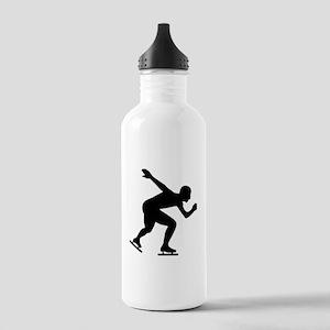 Speed skating skater Stainless Water Bottle 1.0L