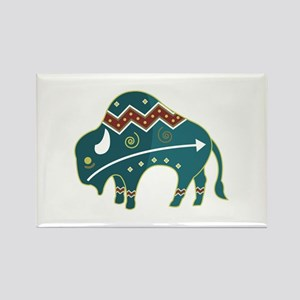 Native Buffalo Design Rectangle Magnet