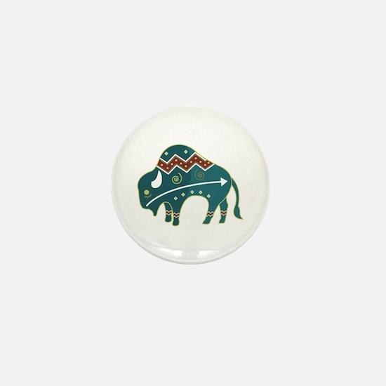 Native Buffalo Design Mini Button