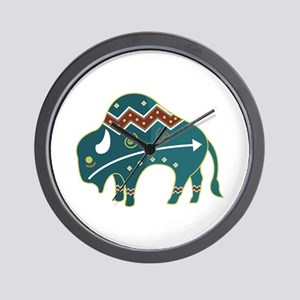 Native Buffalo Design Wall Clock