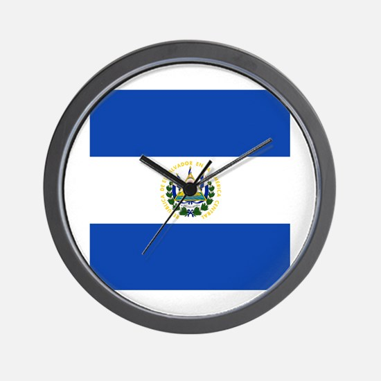 Flag of El Salvador Wall Clock