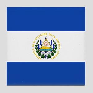 Flag of El Salvador Tile Coaster