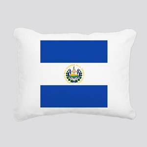 Flag of El Salvador Rectangular Canvas Pillow