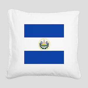 Flag of El Salvador Square Canvas Pillow