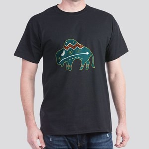 Native Buffalo Design Dark T-Shirt