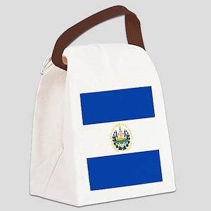Flag of El Salvador Canvas Lunch Bag
