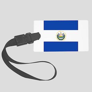 Flag of El Salvador Large Luggage Tag