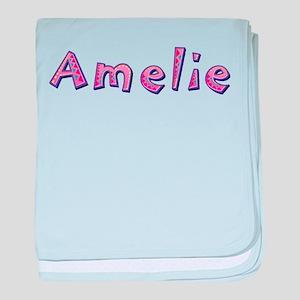 Amelie Pink Giraffe baby blanket