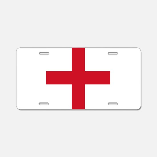 Flag of England - St George Aluminum License Plate