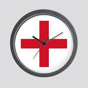 Flag of England - St George Wall Clock
