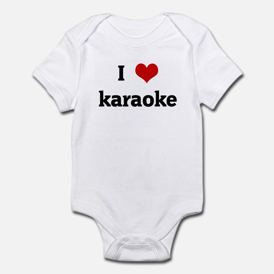 I Love karaoke Infant Bodysuit