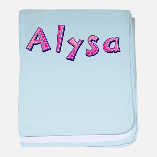 Alysa Pink Giraffe baby blanket
