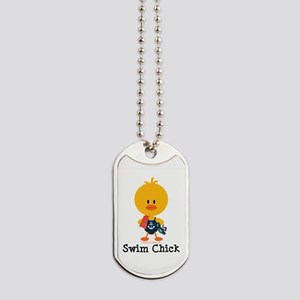 Anchor Swim Chick Dog Tags