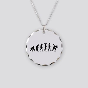 Evolution Speed skating Necklace Circle Charm