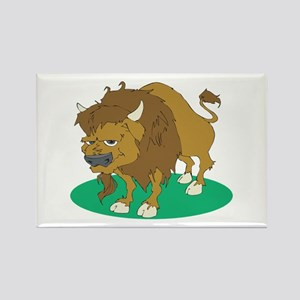Cartoon Buffalo Rectangle Magnet