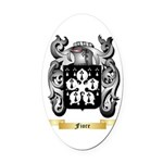 Fiore Oval Car Magnet