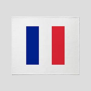 Flag of France Throw Blanket