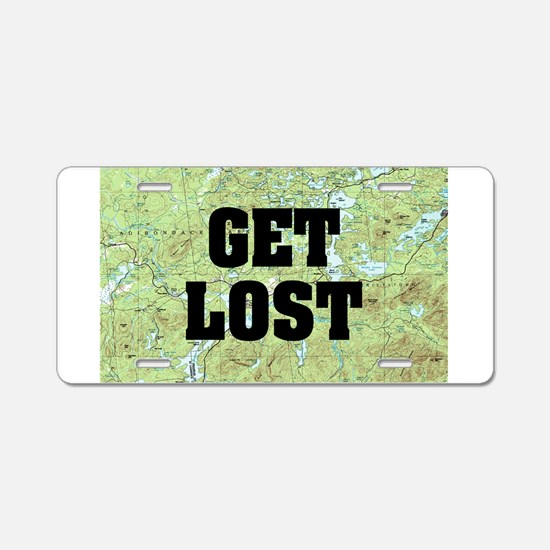 Get Lost Aluminum License Plate