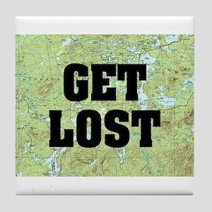 Get Lost Tile Coaster