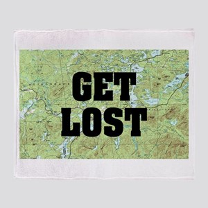 Get Lost Throw Blanket