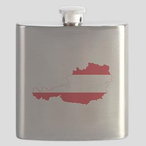 Austrian Flag Map Flask