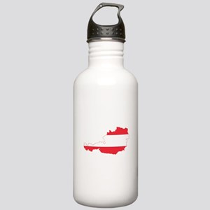 Austrian Flag Map Water Bottle