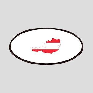 Austrian Flag Map Patches