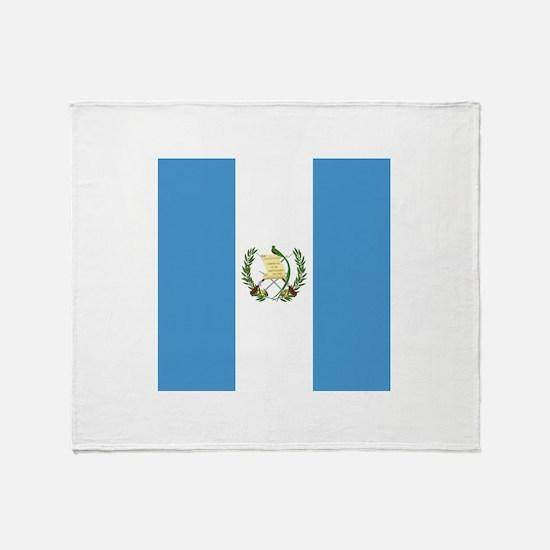 Flag of Guatemala Throw Blanket