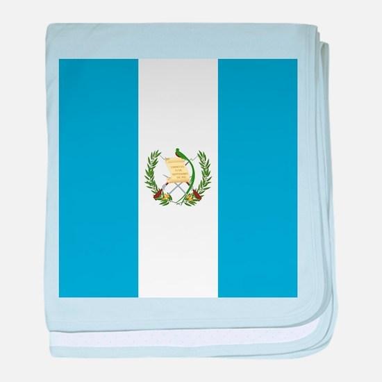 Flag of Guatemala baby blanket