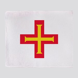 Flag of Guernsey Throw Blanket