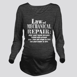 Law of Mechanical Re Long Sleeve Maternity T-Shirt