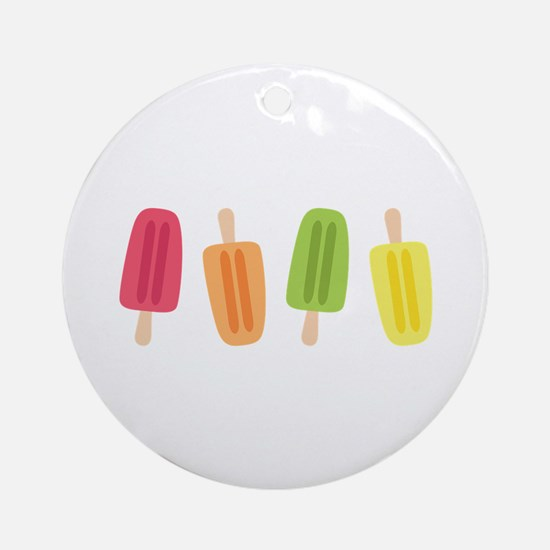 Popsicles Ornament (Round)
