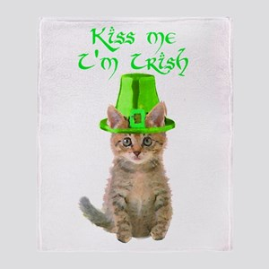 Kiss Me I'm Irish Throw Blanket