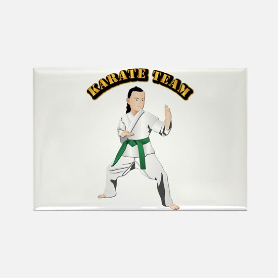 Karate Team Rectangle Magnet