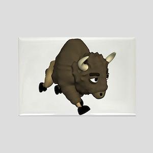 3D Buffalo Design Rectangle Magnet