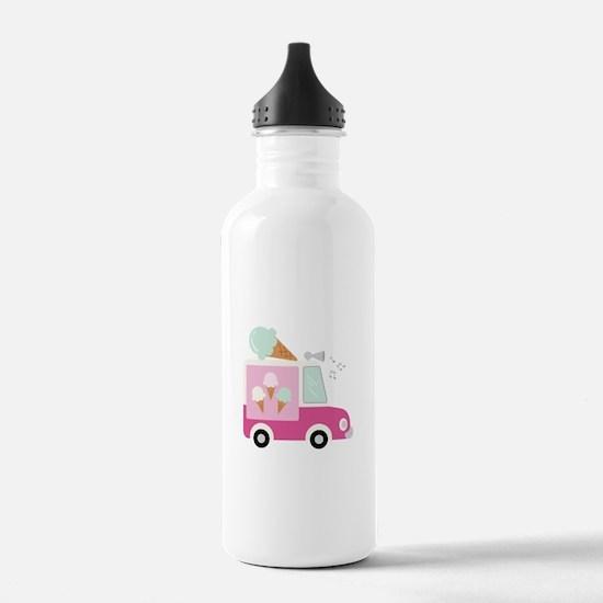 Ice Cream Truck Water Bottle