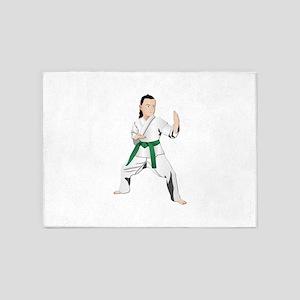 Karate - No Txt 5'x7'Area Rug