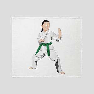 Karate - No Txt Throw Blanket