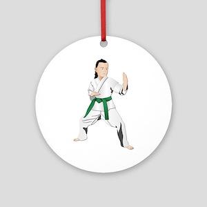 Karate - No Txt Ornament (Round)