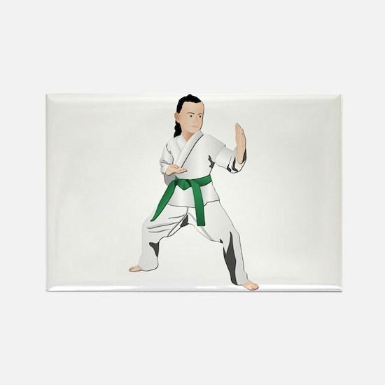 Karate - No Txt Rectangle Magnet