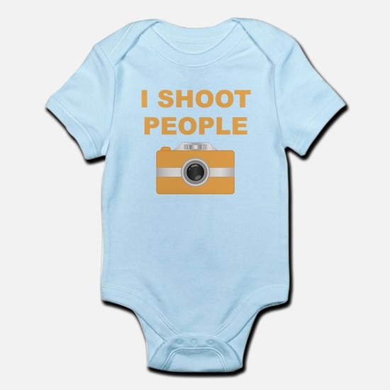 I Shoot People Orange Camera Body Suit