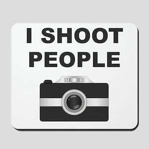 I Shoot People Black Camera Mousepad